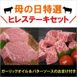 【5/9~5/11お届け限定】【冷凍発送限定】母の日特選ヒレステーキセット