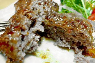 神戸牛手造りハンバーグステーキ「菊華」