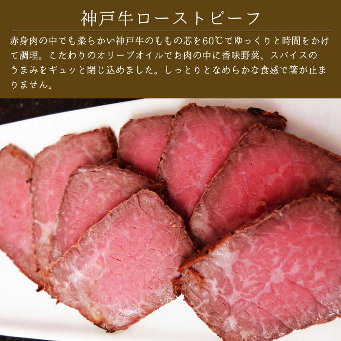 神戸牛ローストビーフ・神戸牛・但馬鶏おつまみセット