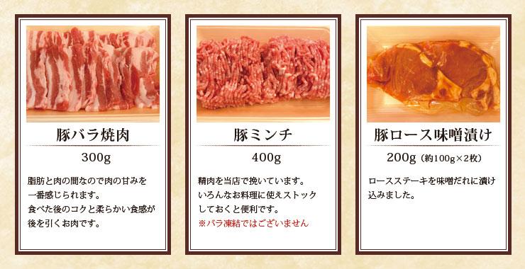 神戸ポークバイキング豚肉だけ ロース・バラ・モモ・ヒレ