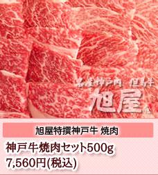 神戸牛おすすめ焼肉500gセット